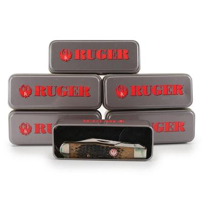 Ruger for Case XX Stag Handled Folding Pocket Knives