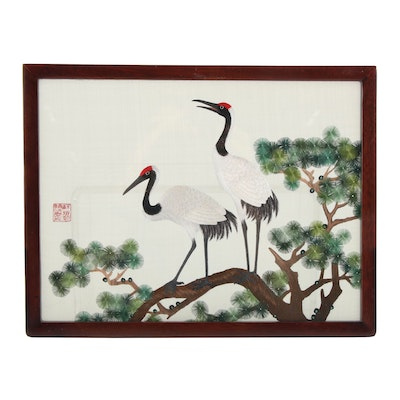 Chinese Suzhou Style Double-Sided Silk Organza Embroidery Panel