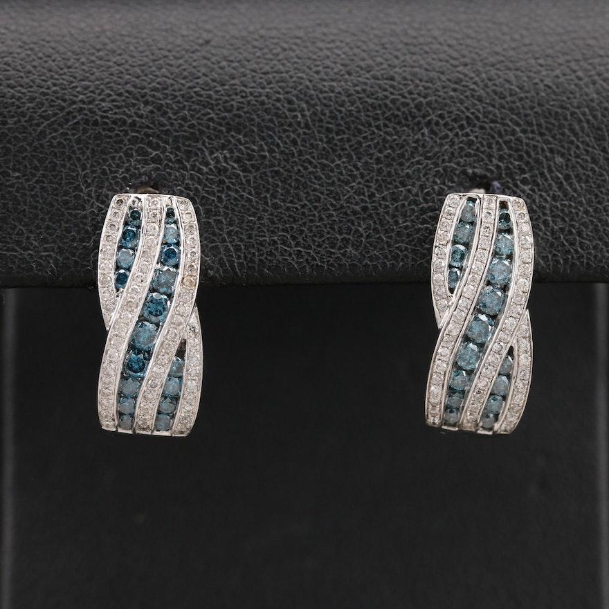 14K 1.40 CTW Diamond Braided Earrings