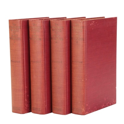 """""""The Complete Works of John Webster"""" Four-Volume Set Edited by F. L. Lucas, 1928"""
