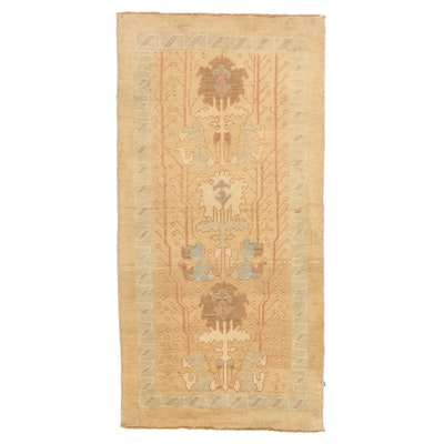 3'8 x 6'5 Hand-Knotted Turkish Donegal Area Rug