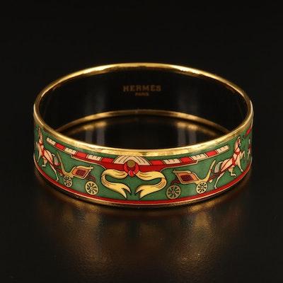 Hermès Wide Enamel Bangle