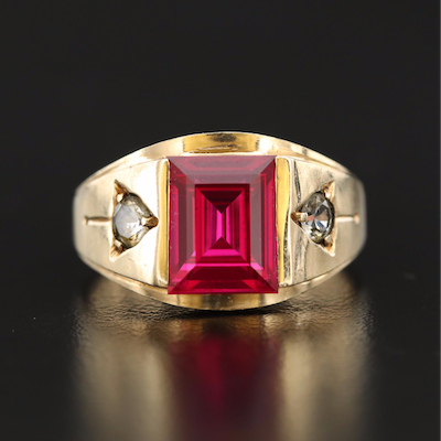 10K Ruby and Topaz Ring