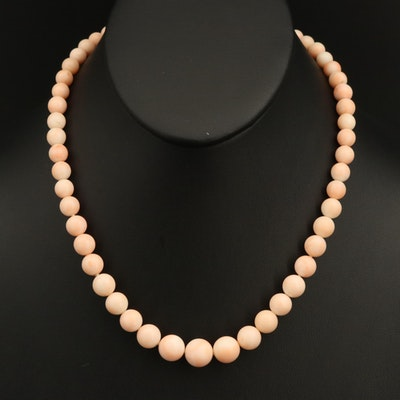 Graduated Coral Necklace