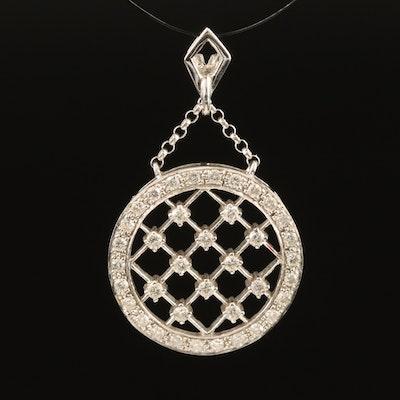 14K 0.45 CTW Diamond Lattice Pendant
