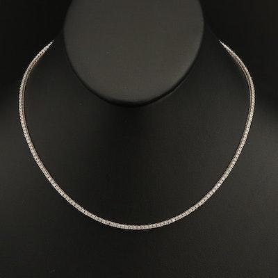 18K 3.51 CTW Diamond Line Necklace