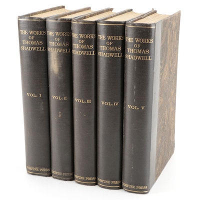 """Limited Edition """"The Complete Works of Thomas Shadwell"""" Five-Volume Set, 1927"""