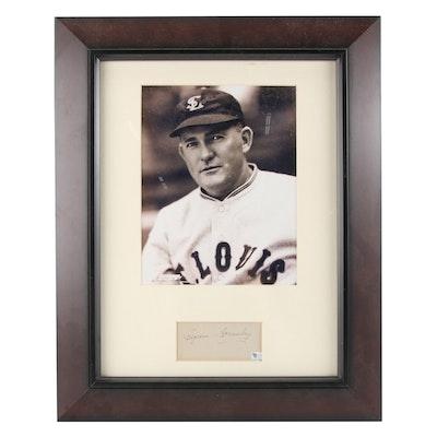 Rogers Hornsby St. Louis Cardinals Signature Cut and Portrait Photo Print, COA