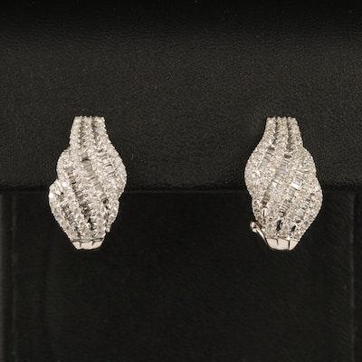 10K 1.03 CTW Diamond Earrings