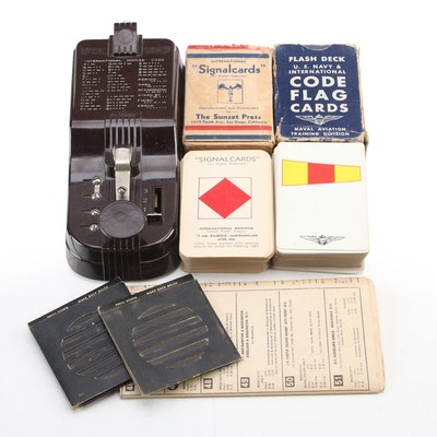 Fleron Morse Code Official Signaler with Naval Signal and Code Flag Cards