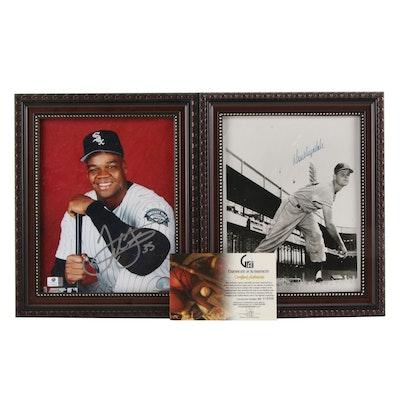 Don Drysdale and Frank Thomas Signed Baseball Photo Prints, COAs