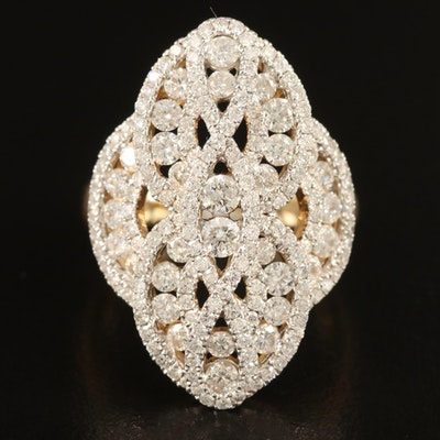 14K 2.34 CTW Diamond Openwork Ring
