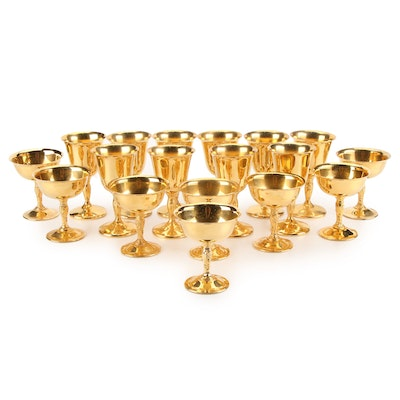 International Silver Company Champagne Coupes and Wine Glasses