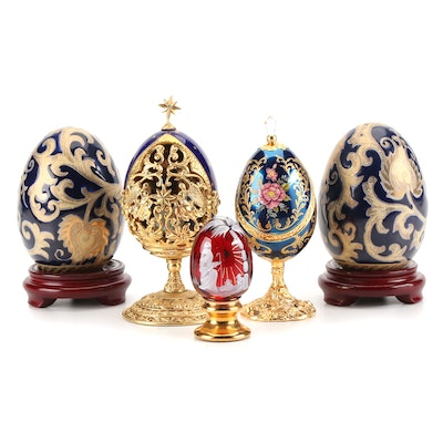 """House of Fabergé """"A King is Born"""" Limited Edition Collector Egg with Others"""