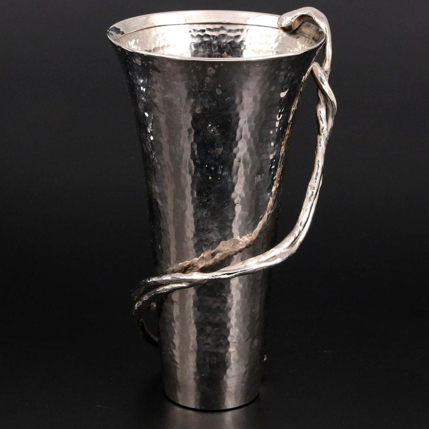 "Michael Aram ""Wisteria"" Hammered Stainless Steel Vase"