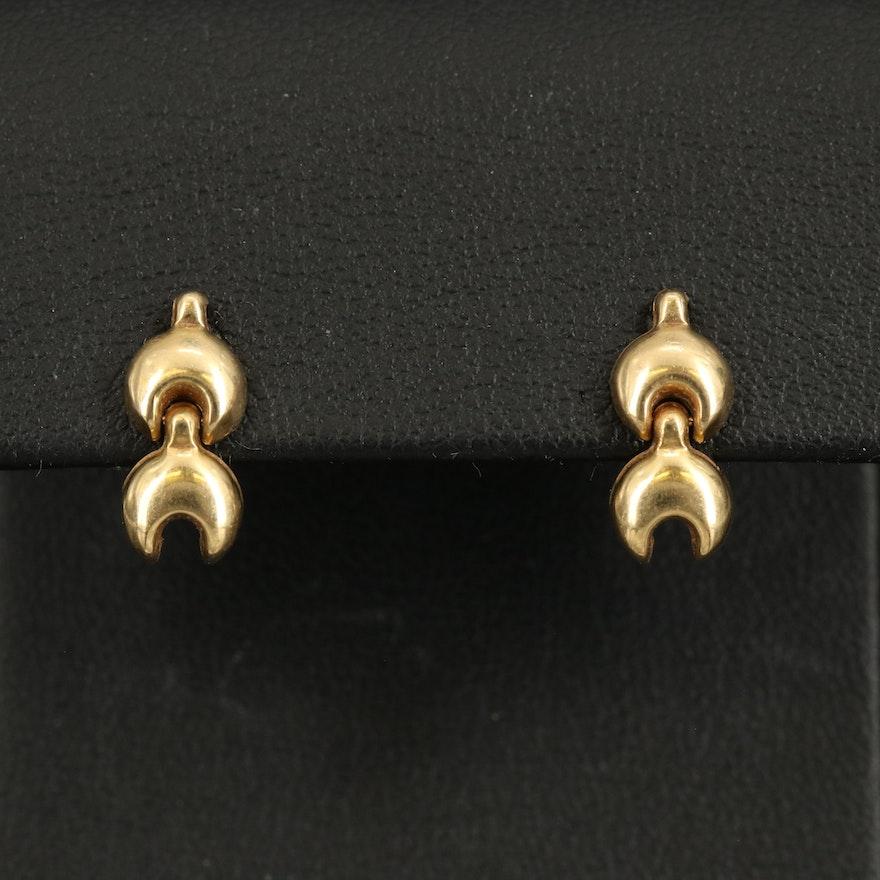 18K Link Earrings