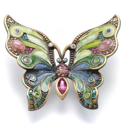 Jay Strongwater Enamel and Rhinestone Butterfly Figurine