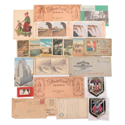 Ephemera Including Postcards, Photographs, Patches and Letters