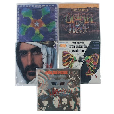 Frank Zappa, Iron Butterfly, Steppenwolf and Other Signed Vinyl Rock LP Records