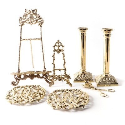 """Virginia Metalcrafters """"Mount Vernon"""" Brass Candlesticks and Other Décor"""