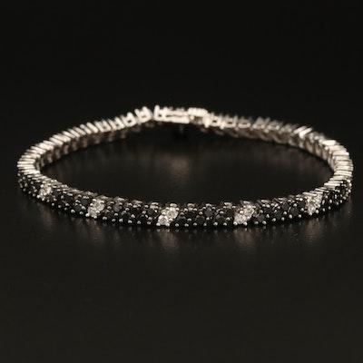 14K 3.59 CtW Diamond Double Row Bracelet