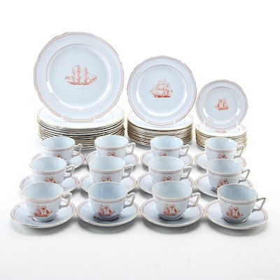 """Spode """"Trade Winds"""" English Porcelain Tableware, Late 20th Century"""