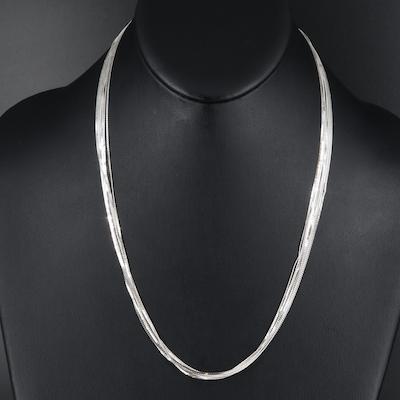 Sterling Serpentine Multi-Chain Necklace