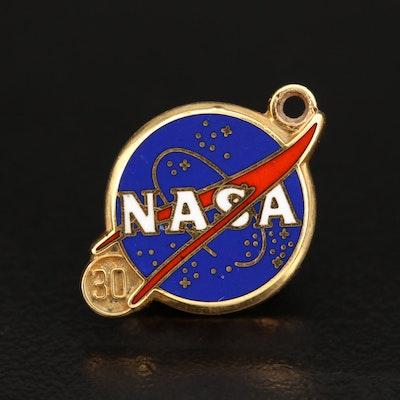 10K NASA 30 Years of Service Pin