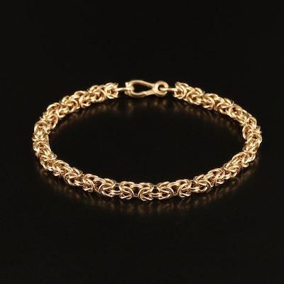 14K Byzantine Chain Bracelet with Extra Links