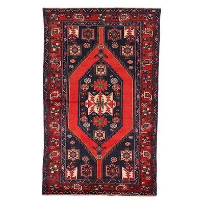 4'3 x 6'10 Hand-Knotted Persian Zanjan Area Rug