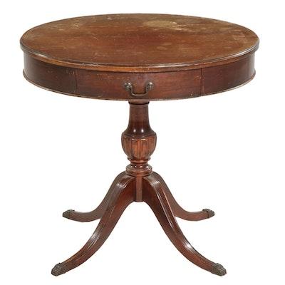 Mersman Duncan Phyfe Style Mahogany Round Center Table, Mid-20th Century
