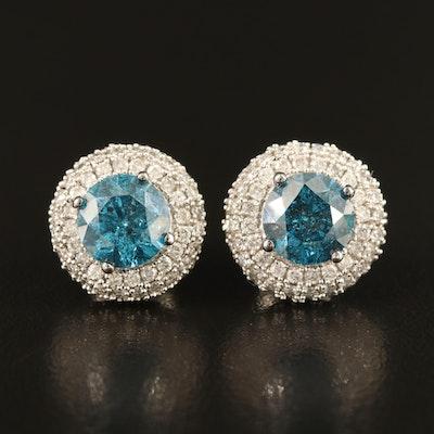 14K 4.14 CTW Diamond Earrings