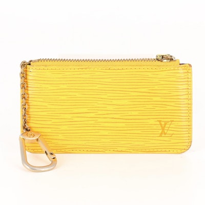 Louis Vuitton Key Pouch in Tassil Yellow Epi Leather