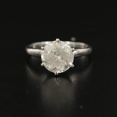14K 3.08 CT Diamond Solitaire Ring