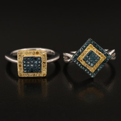 Sterling Diamond Rings