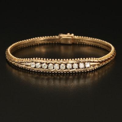 14K 0.50 CTW Diamond Riccio Chain Bracelet