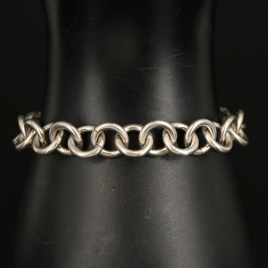 Sterling Cable Link Bracelet