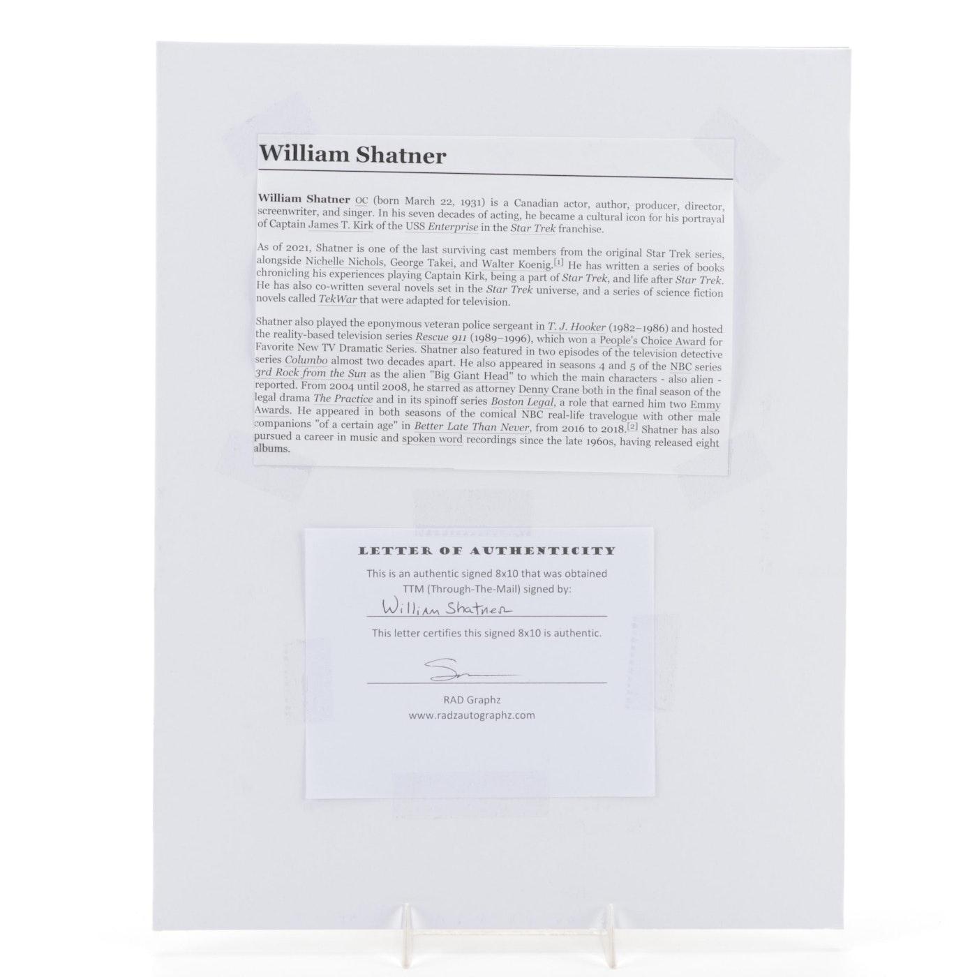 William Shatner Signed