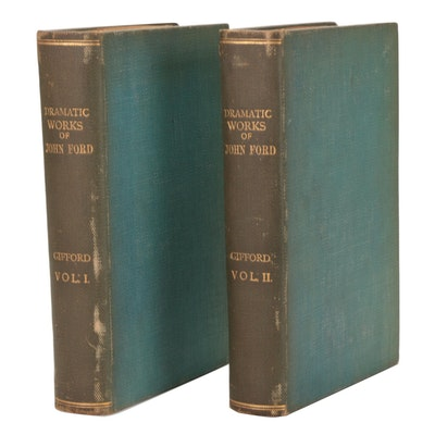 """""""The Dramatic Works of John Ford"""" Complete Two-Volume Set, 1827"""