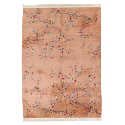 10' x 14'10 Hand-Knotted Chinese Cherry Blossom Room Size Rug