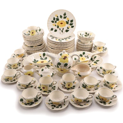 "Blue Ridge Southern Pottery ""Yellow Nocturne"" Ceramic Dinnerware"