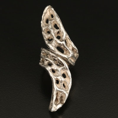 Brutalist Sterling Bypass Ring