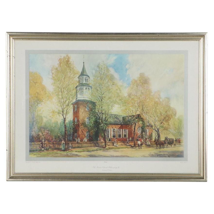 "Giclée After Joseph C. Claghorn ""Old Braton Church Williamburg, VA"""