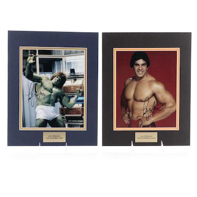 "Lou Ferrigno Signed ""The Incredible Hulk"" Television Series Photo Print, COAs"