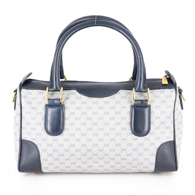 Gucci Top Handle Bag in Micro GG Supreme Canvas and Leather