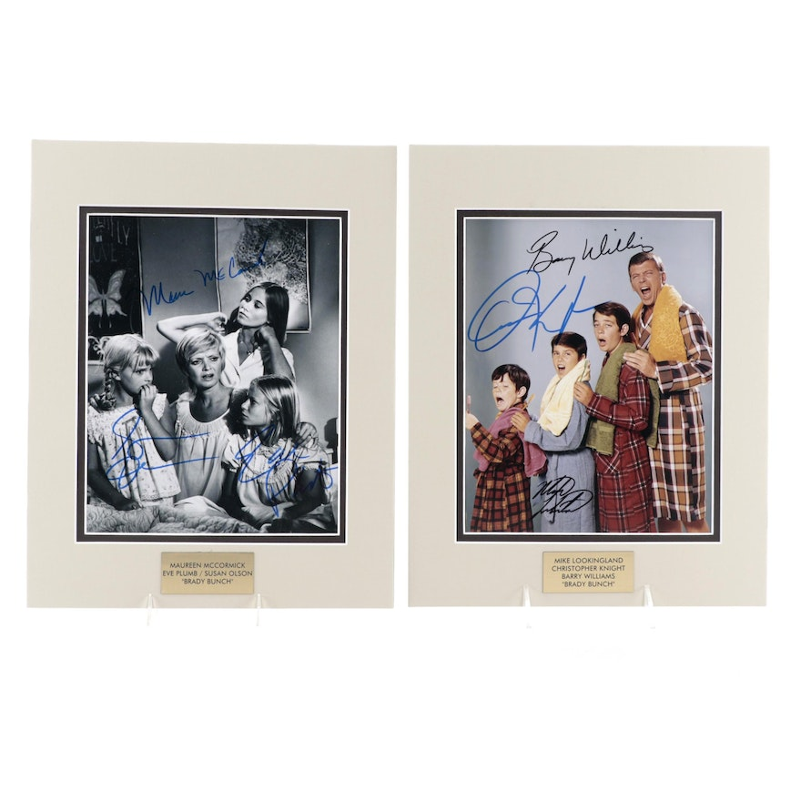 """""""The Brady Bunch"""" Signed Television Series Cast Members Photo Prints, COAs"""