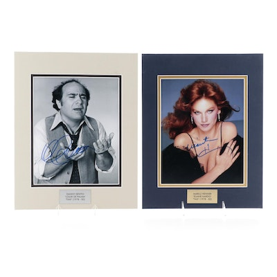 """Danny Devito and Marilu Henner Signed """"Taxi"""" Television Series Photo Prints"""