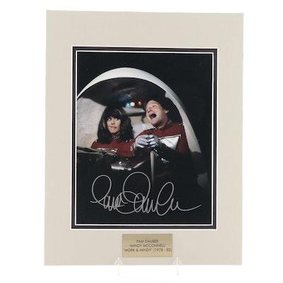 "Pam Dauber Signed ""Mork & Mindy"" 1970s Television Sitcom Photo Print, COA"