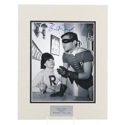 "Burt Ward ""Robin"" Signed ""Batman"" 1960s Television Series Photo Print, COA"
