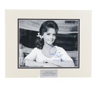 "Dawn Wells ""Mary Ann Summers"" Signed ""Gilligan's Island"" Television Sitcom Print"